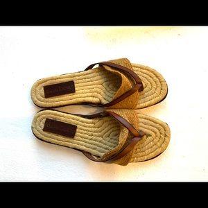 Ralph Lauren thong slide shoe size 8 gorgeous